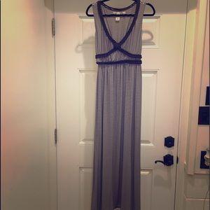 Max Studio Brown Striped Dress
